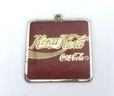 Vintage Coca-Cola Square Key Chain Koka-Kona Red 1992