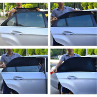 2x Car Sun Shade Shield Cover for Rear Side Window UV Protection Black XXL VHE