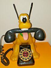 Vintage Disney Pluto Phone Land Line Talking Tested Works
