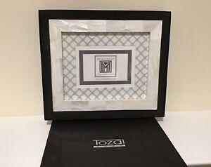 Tozai Home 10x12 White Stone Photo Frame NEW IN BOX