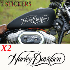2 sticker autocollant harley davidson skull sportster iron reservoir moto custom