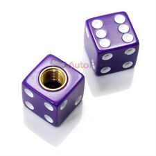 (2) Purple Dice Old School BMX Tire Stem Valve Caps Covers - PAIR