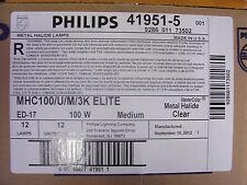 6 bulbs Philips 41951-5 MHC100/U/M/3K  Metal Halide