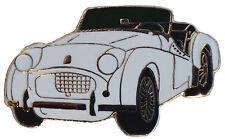Triumph TR2 car cut out lapel pin - White
