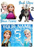 PERSONALISED FROZEN IRON ON T-SHIRT FABRIC TRANSFER OR STICKER ANNA ELSA SVEN