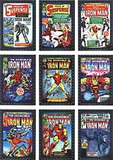 Iron Man 2 Movie Classic Comic Covers Complete 9 Card Foil Chase Set