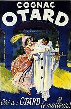 French Cognac Otard Liquor Beer, Champagne, Wine Advertisement Art Poster Print