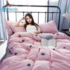 TOP QUALITY Bedding Set Full King Size Comforter Cover Duvet Sets Floral Pink