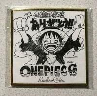 ONE PIECE Eiichiro Oda Autograph Shikishi Limited 1500 mini colored paper