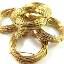 3.5m LENGTHS BRASS PICTURE WIRE PHOTO FRAMES MIRRORS WALL HANGING DIY WIRE No. 1