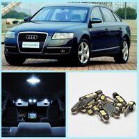 2006-2011 Audi A6 C6/4F No Error LED Interior Light Bulbs Kit White Lamps 17pcs