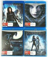 Underworld Blu-rays 4 Movies Awakening Evolution Rise of the Lycans