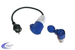 CEE Adapter Kabel auf Schuko - Camping Caravan Wohnwagen Stromadapter 16A