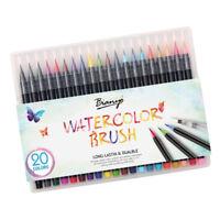 20 colori pennelli per acquerello, pennarelli con punte per pennelli
