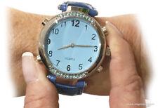 Reloj con Voz para Ciegos de Dama Correa Azul