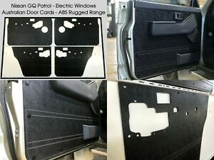Black Nissan GQ GR Y60 PATROL Electric Window. Waterproof ABS Door Trim Panel