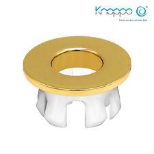 KNOPPO® Waschbecken Messing Abdeckung, Metall Überlaufblende - Eye Gold polished