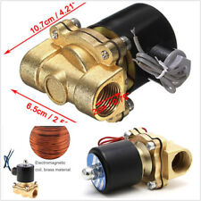 Brass Car Truck DC12V 1/2'' NPT Electric Solenoid Water Air Valve Normal Closed
