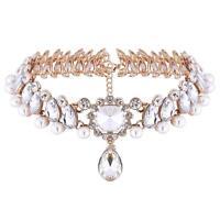 Crystal Choker Full Diamond Rhinestone Pendant Collar Necklace Jewelry