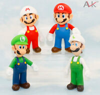 Lot 4Pcs Super Mario  Bros Brothers  Mario And Luigi PVC Action Figure Toy 12CM