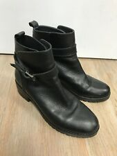 The White Company Black leather ankle boots - EU 38 / UK 5