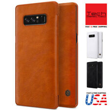 Nillkin Galaxy Note 8 S8 S8+ Leather Cover with Card Slot Holder Slim Flip Case
