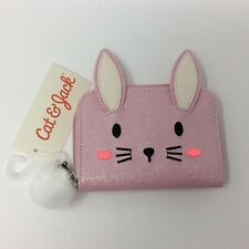 Girls Coin Purse Cat And Jack Pink Bunny Zippered