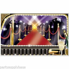 NYE Hollywood VIP RED CARPET LIMO MURAL Photo Booth PARTY DECORATION