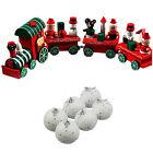 UK Christmas Gifts Xmas Decoration Christmas Tree Decor Wood Xmas Train Snowball
