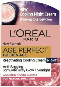 L'Oreal Paris Age Perfect Golden Age Cooling Night Cream Moisturiser for Mature