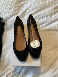New Auth Hugo Boss Leather Suede Women Slip On Flats Ballerina Shoes 35 5 $390