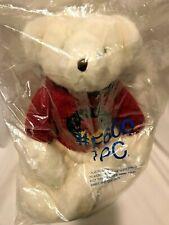 "Large Russ Teddy Bear White Plush ""Jingle"" Christmas Sweater 19"" ~New"