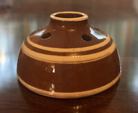 Redware Pottery Inkwell Marked JTP 92
