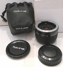 Film Camera Lens Ring Tokina RMC Doubler for F/AX & Caps & Pouch Made in Japan