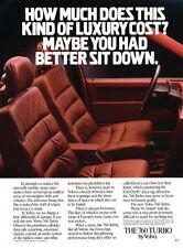 1986 Volvo 760 Turbo Sedan - Original Advertisement Car Print Ad J309