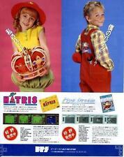 HATRIS Pipe Dream Game Boy GB 1990 JAPANESE GAME MAGAZINE PROMO CLIPPING