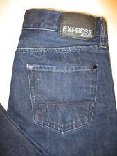 Express Rocco Slim Boot Cut Mens Dark Blue Denim Jeans Size 33 x 32  Mint