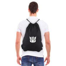 Decepticon Transformers Logo Eco-friendly Reusable Canvas Draw String Bag