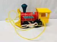 Fisher Price Train Pull Toy Vintage 643 Toot Toot Train Wooden 1960s Toys