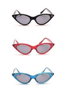 Cat Eye Sonnenbrille 50s Brille Butterfly Rockabilly Schwarz Rot Blau Damen Neu