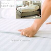 """ELECTRIC BED SMALL DOUBLE FITTED SHEET 4' x 6' 6"""" Hotel Quality SATIN STRIPE"""