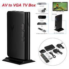 HD 1080P AV to VGA TV MTV Box Receiver Tuner For LCD/CRT PC Monitor US/EU Plug
