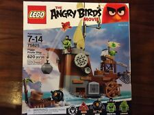 New Lego Angry Birds Piggy Pirate Ship Set 75825 in Sealed Slightly Crushed Box