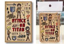 Attack on Titan Pass Case PlayP-C Eren Armin Mikasa Hajime Isayama Licensed New