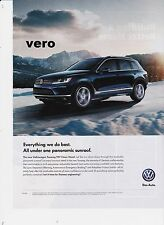 VW 2015 TOUAREG TDI clean diesel mag ad print clipping car advert volkswagen