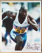 JOHN REGIS - 1988 OLYMPIC GAMES 4x100m RELAY GOLD MEDAL SIGNED PHOTOGRAPH