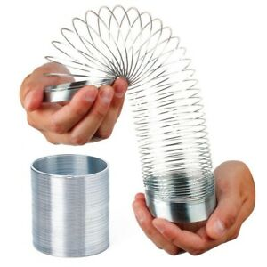 Slinky Metal Power Spring Rainbow Circle Classic Novelty Toys in Box AU Gifts