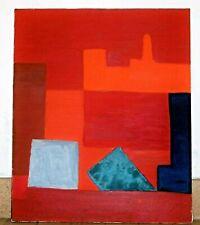 Grand tableau abstrait, hst, signé Adrien Cazaux, expo des Indépendants en 1971.