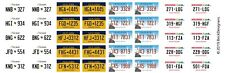 Custom Lego License Plate Stickers - Set 1 - States: MD / NY / IL / WI