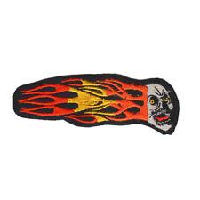 empiècement à coudre Patches Emblème brodé 13 x 5 cm tête en flammes 07521